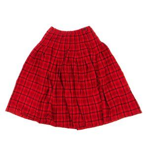 Pendleton Women's Skirt Plaid Pleated Red Size 10P